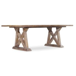 Geo Trestle Dining Table with X Pedestals