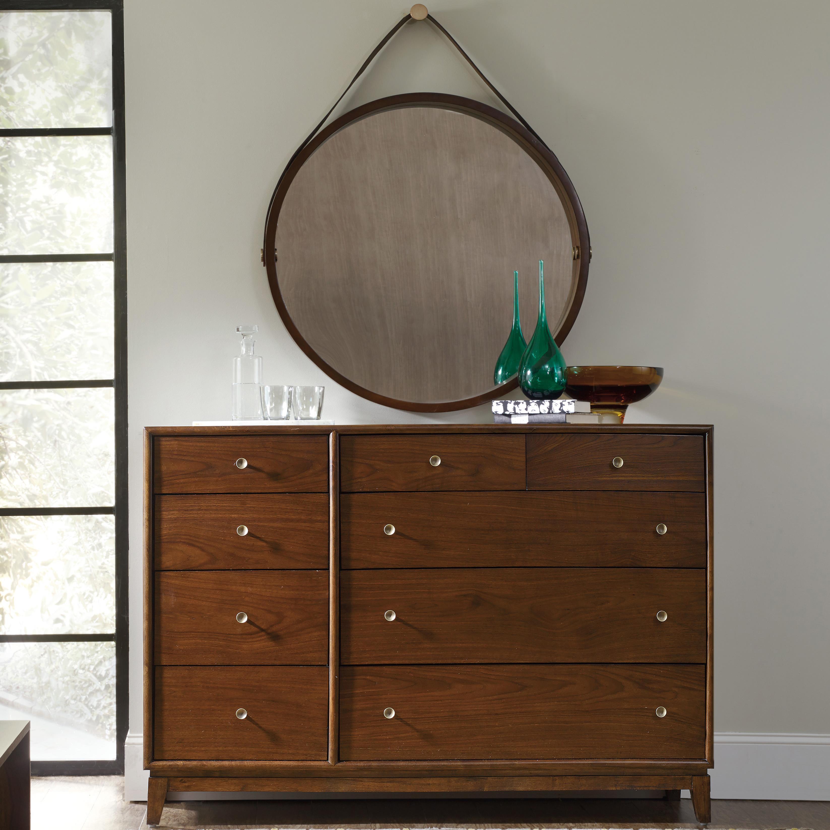 Studio 7H Sans Serif Dresser and Portal Mirror Set by Hooker Furniture at Baer's Furniture