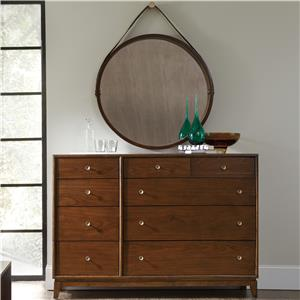 Sans Serif Dresser and Portal Mirror Set