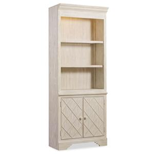 Casual Cottage Coastal Bunching Bookcase with Storage Cabinet