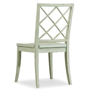 Casual Cottage Coastal X Back Side Chair