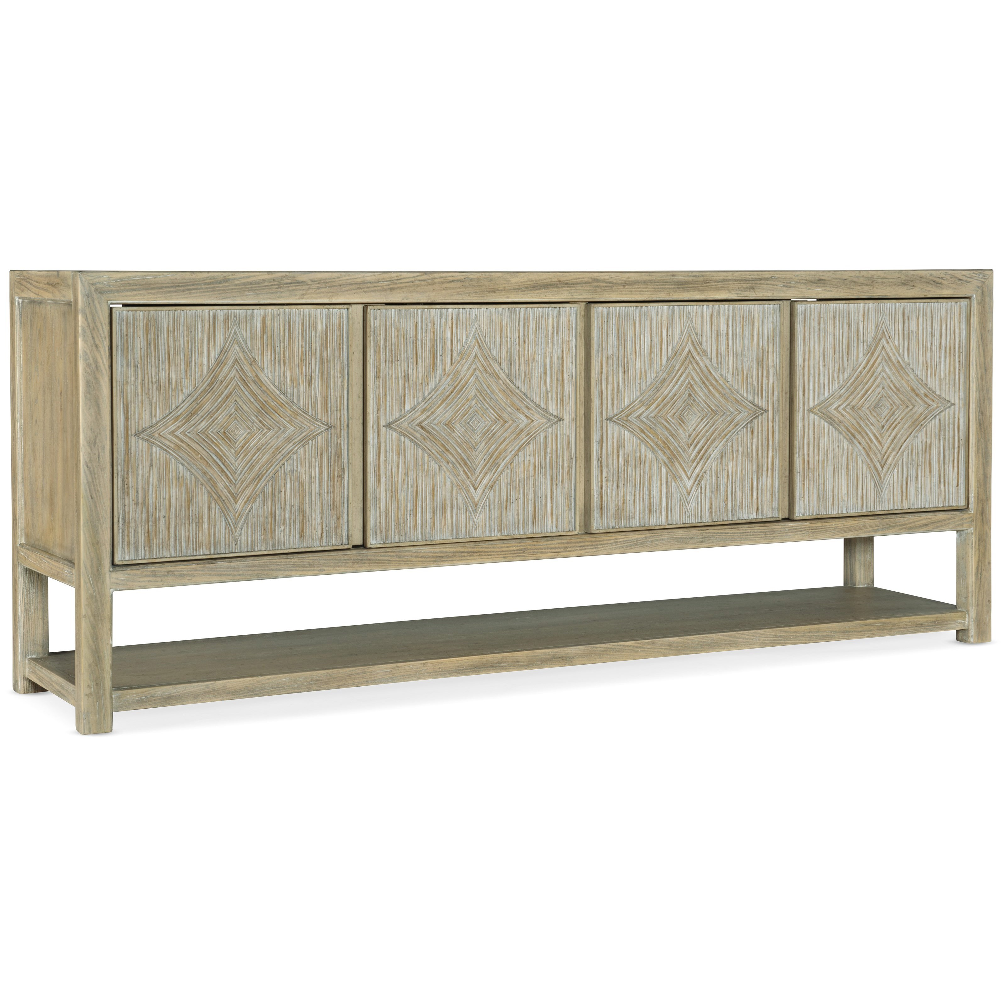 Surfrider Entertainment Console by Hooker Furniture at Mueller Furniture