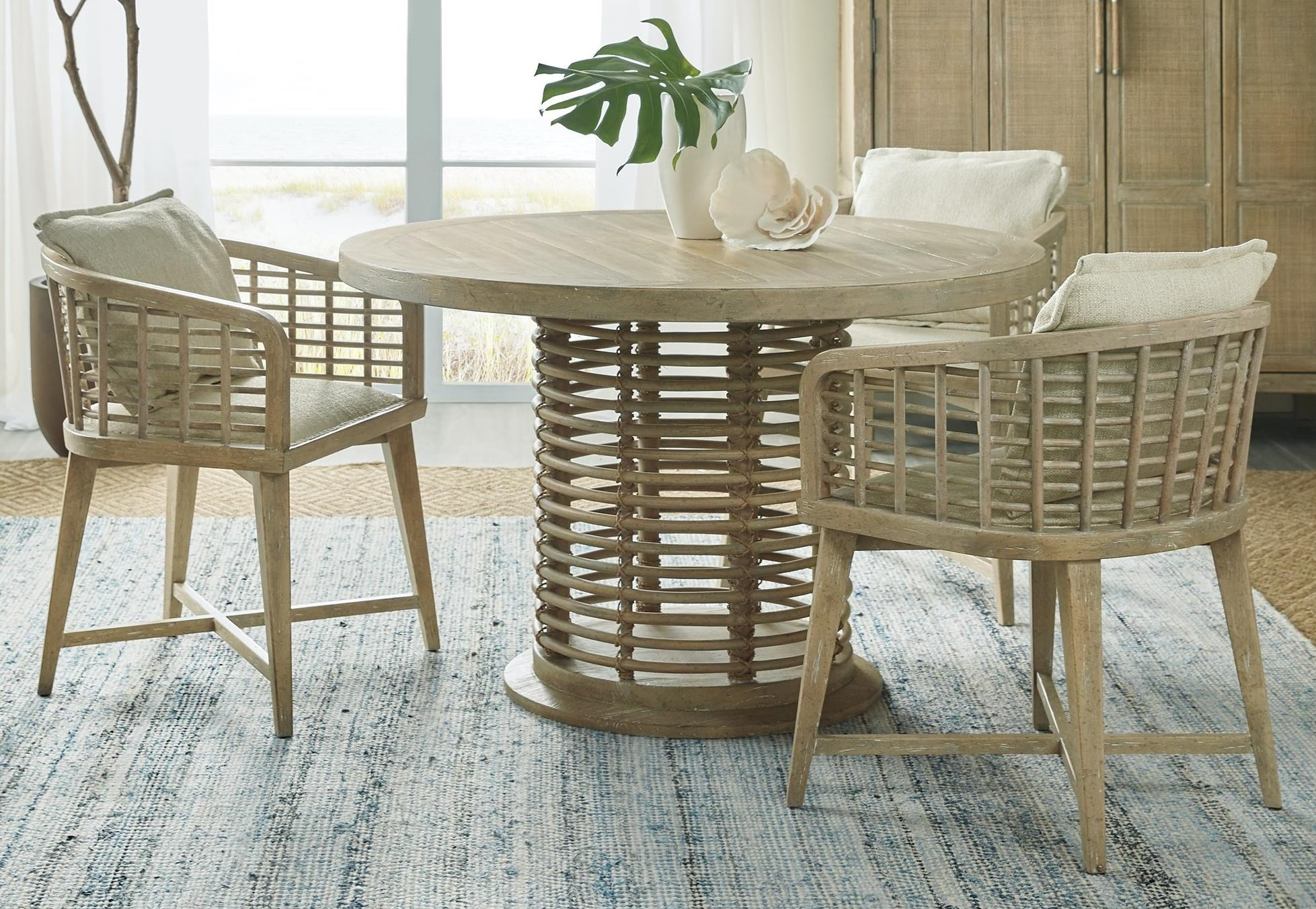 Surfrider 4-Piece Table and Chair Set by Hooker Furniture at Baer's Furniture