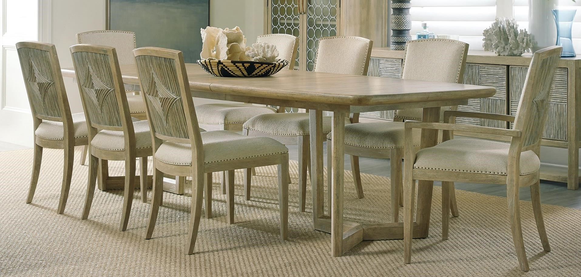 Surfrider 9-Piece Dining Table and Chair Set by Hooker Furniture at Baer's Furniture