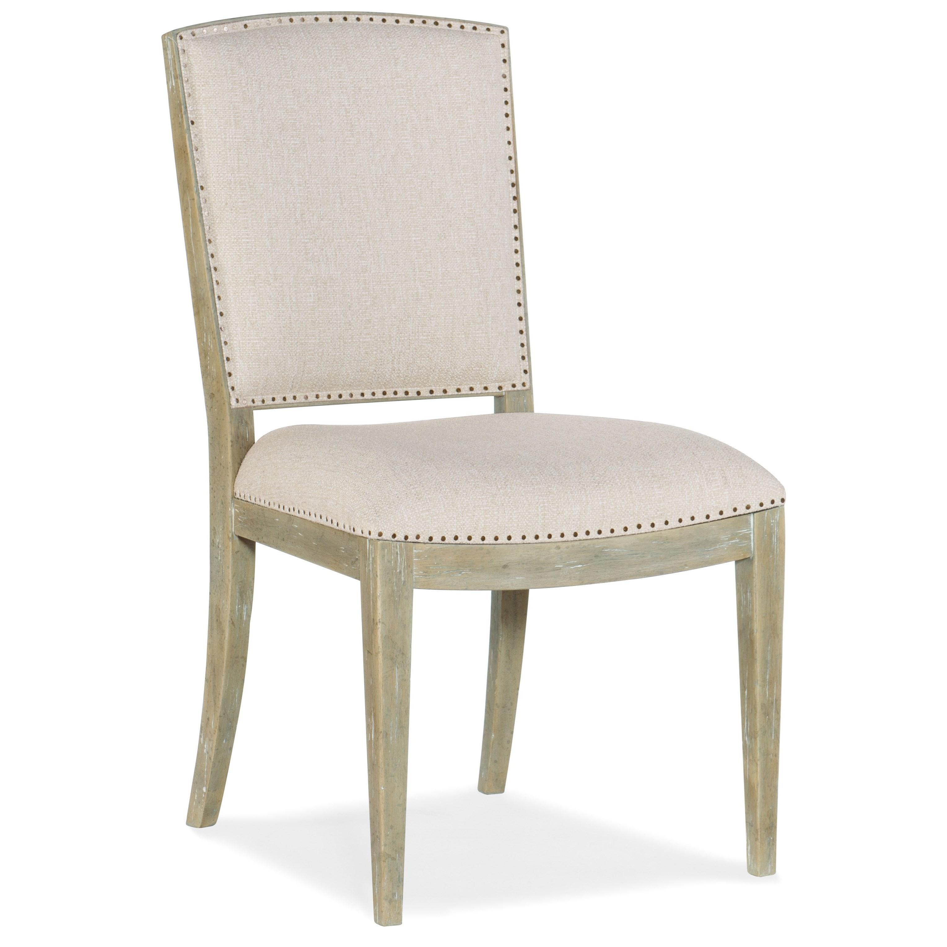 Surfrider Carved Back Side Chair by Hooker Furniture at Baer's Furniture