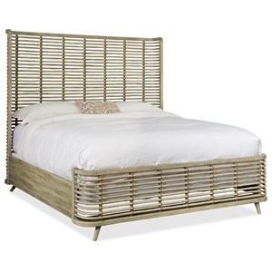 King Rattan Bed