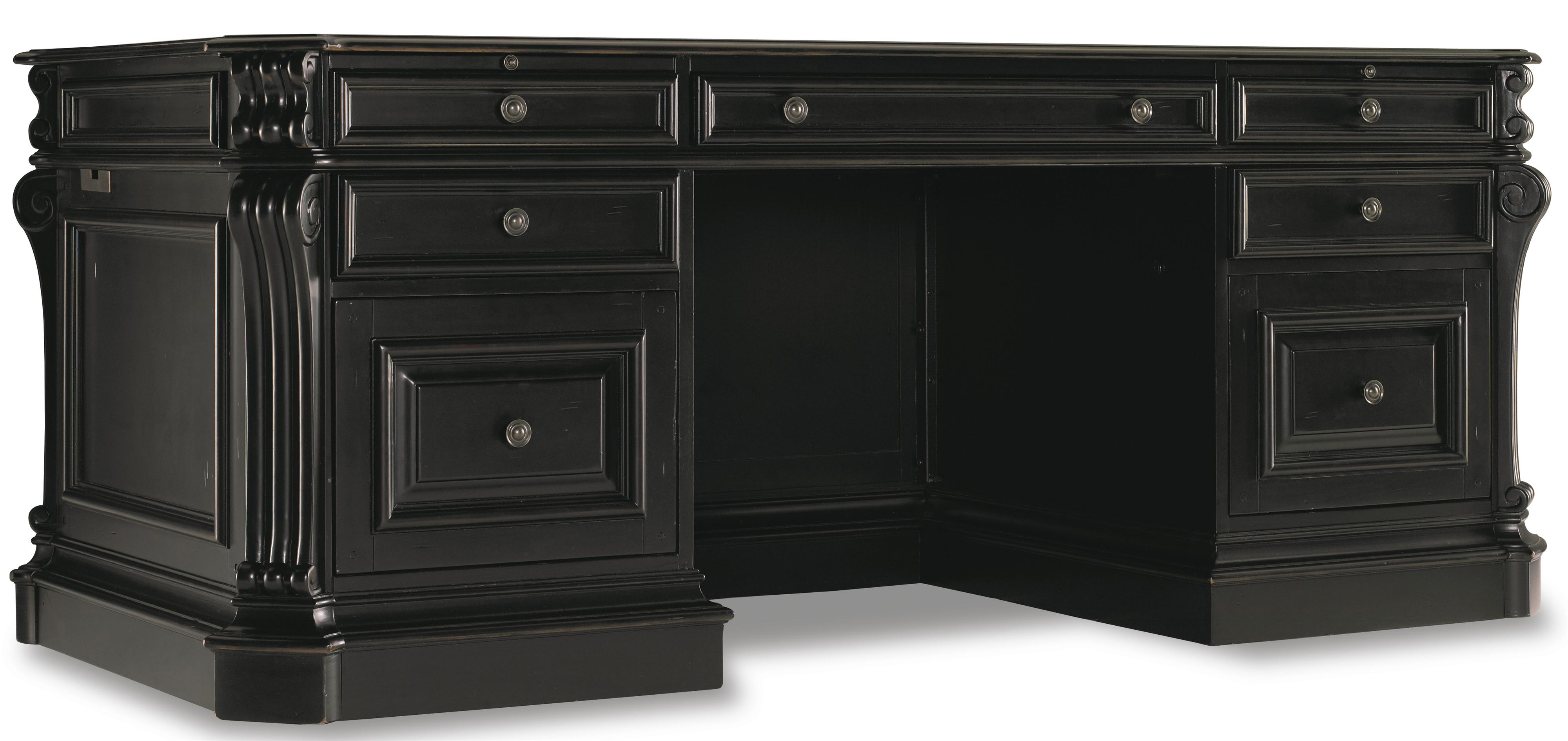 Telluride Executive Desk by Hooker Furniture at Zak's Home