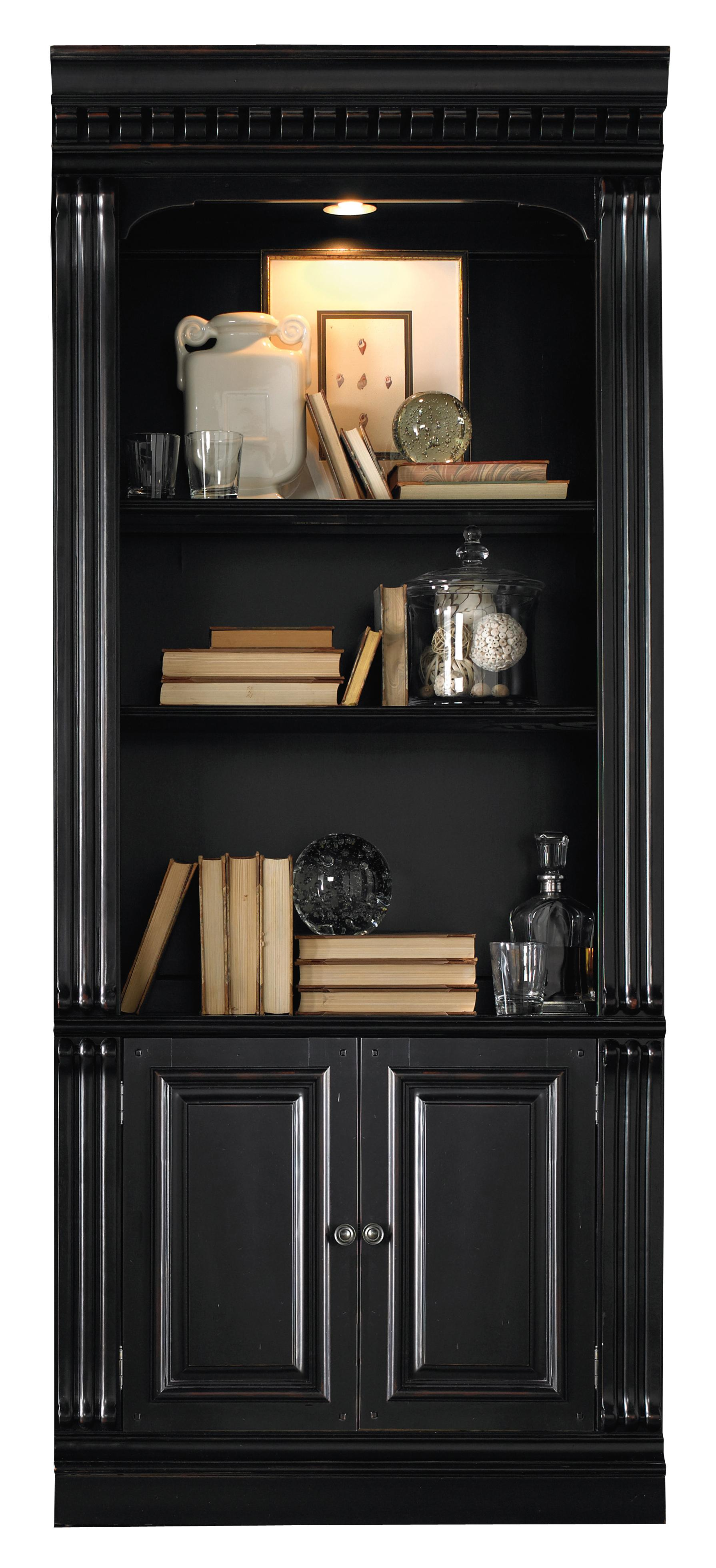 Telluride Bunching Bookcase with Doors by Hooker Furniture at Baer's Furniture