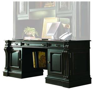Traditional Computer Credenza with Thickly Reeded Pilasters