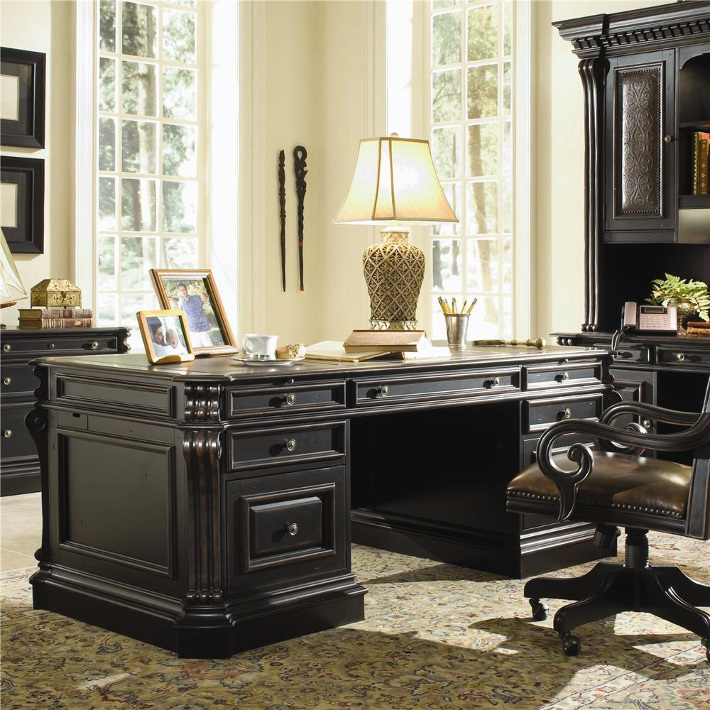 Telluride Executive Desk by Hooker Furniture at Miller Waldrop Furniture and Decor