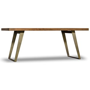 Contemporary Dining Table with Metal Base