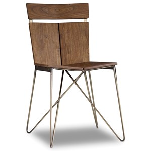 Modern Contemporary Chair with Metal Base