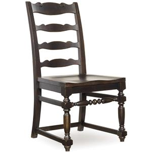 Ladderback Side Chair with Turned Legs