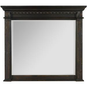 Mantle Landscape Mirror with Carvings