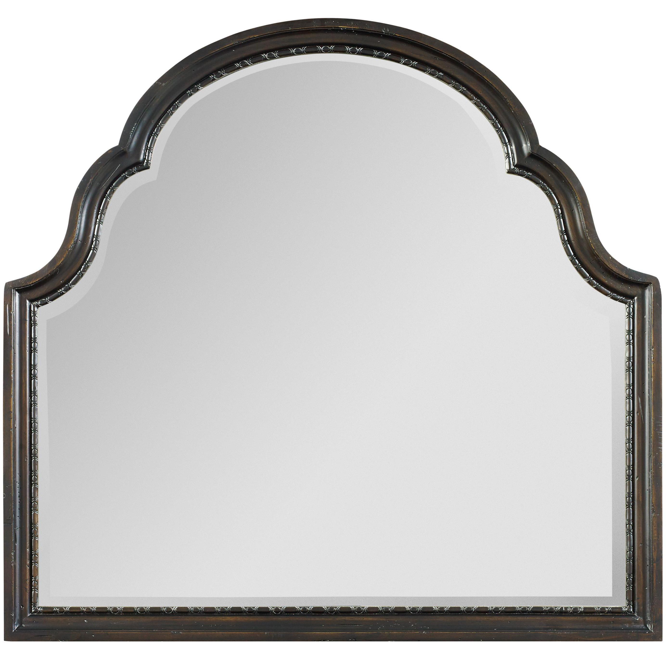 Treviso Shaped Landscape Mirror by Hooker Furniture at Baer's Furniture