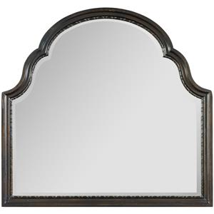 Shaped Landscape Mirror with Rounded Top