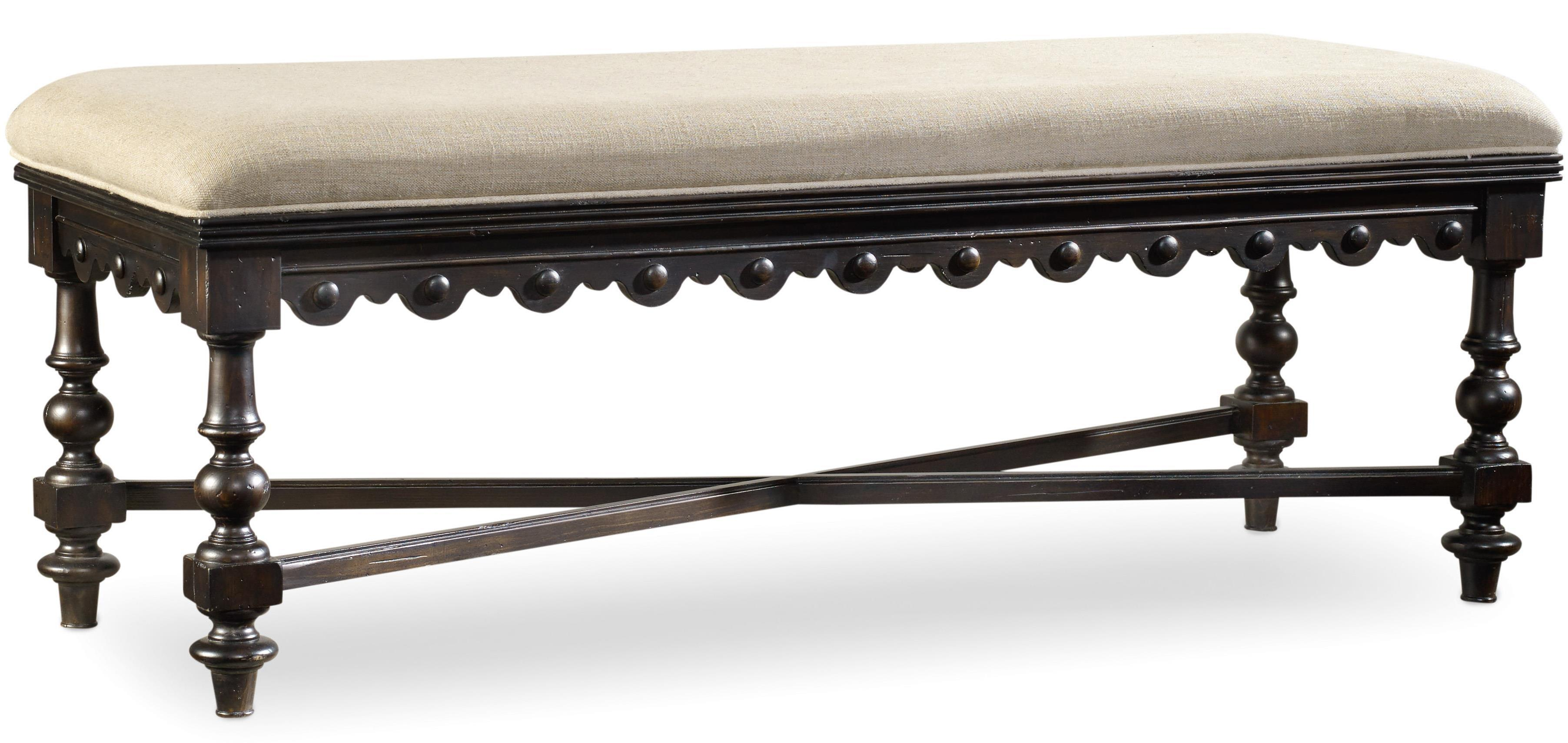 Treviso Bed Bench by Hooker Furniture at Alison Craig Home Furnishings