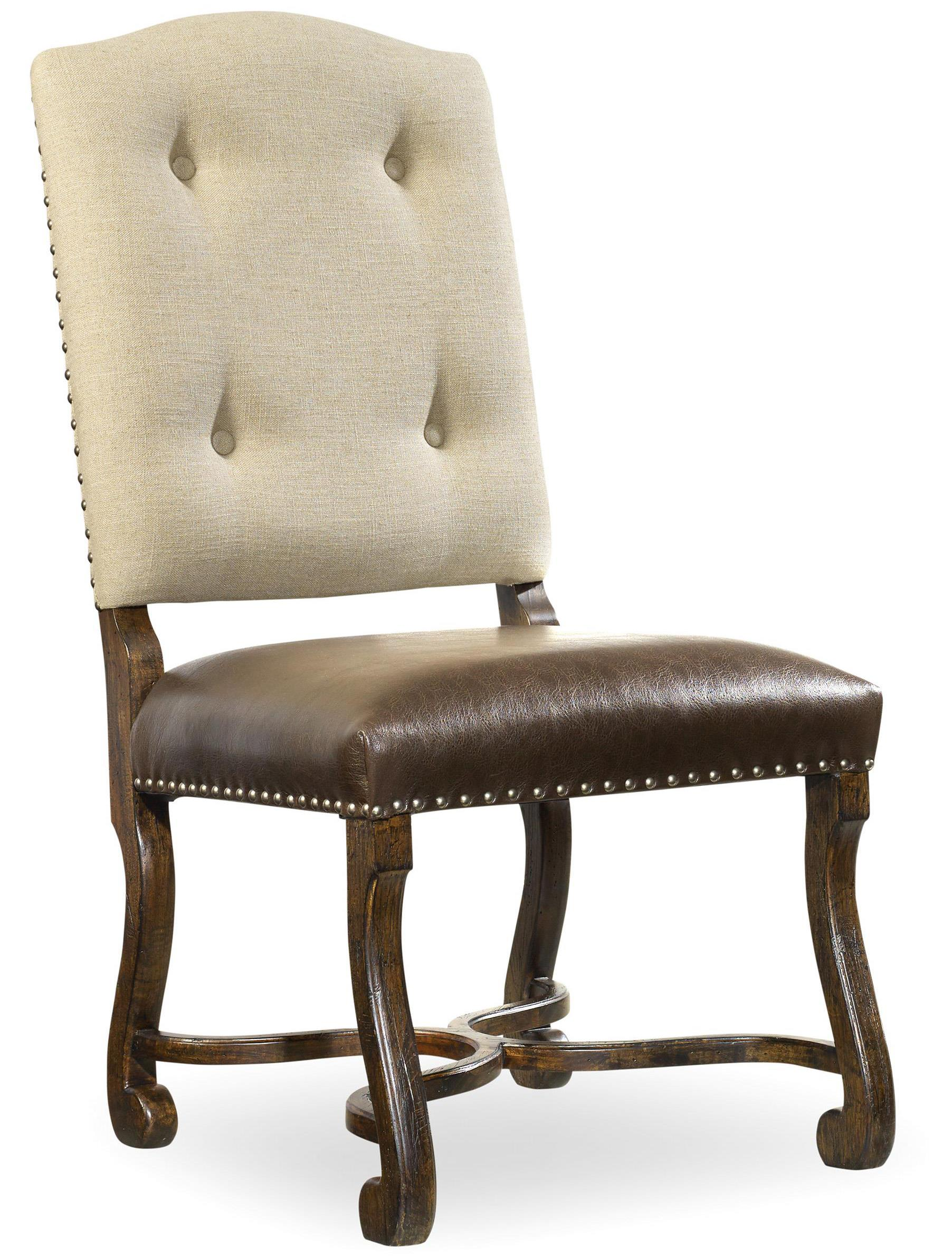 Treviso Camelback Side Chair by Hooker Furniture at Alison Craig Home Furnishings