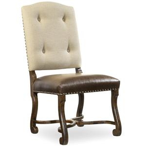 Camelback Side Chair with Tufted Back