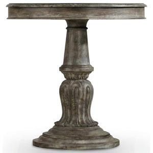 Bedside Table with Pedestal Base