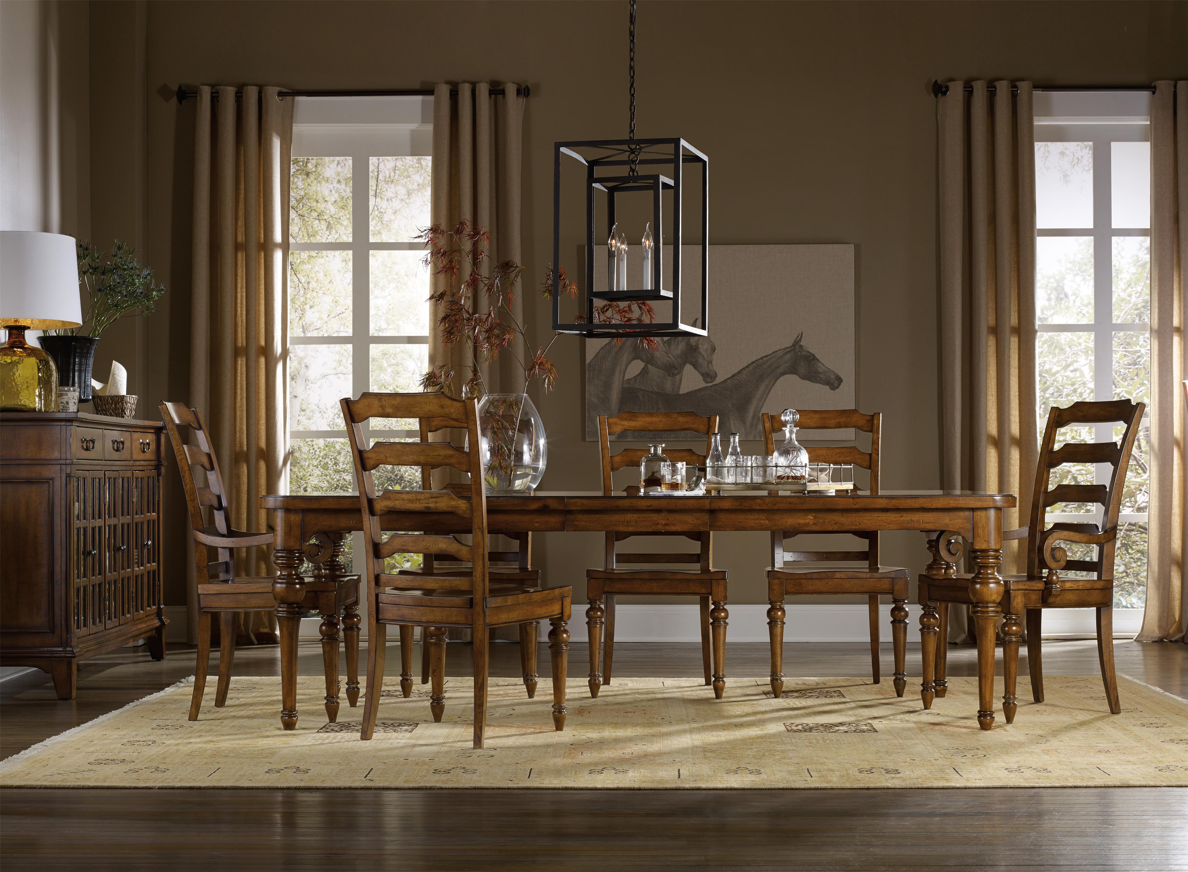 Tynecastle Formal Dining Room Group by Hooker Furniture at Miller Waldrop Furniture and Decor