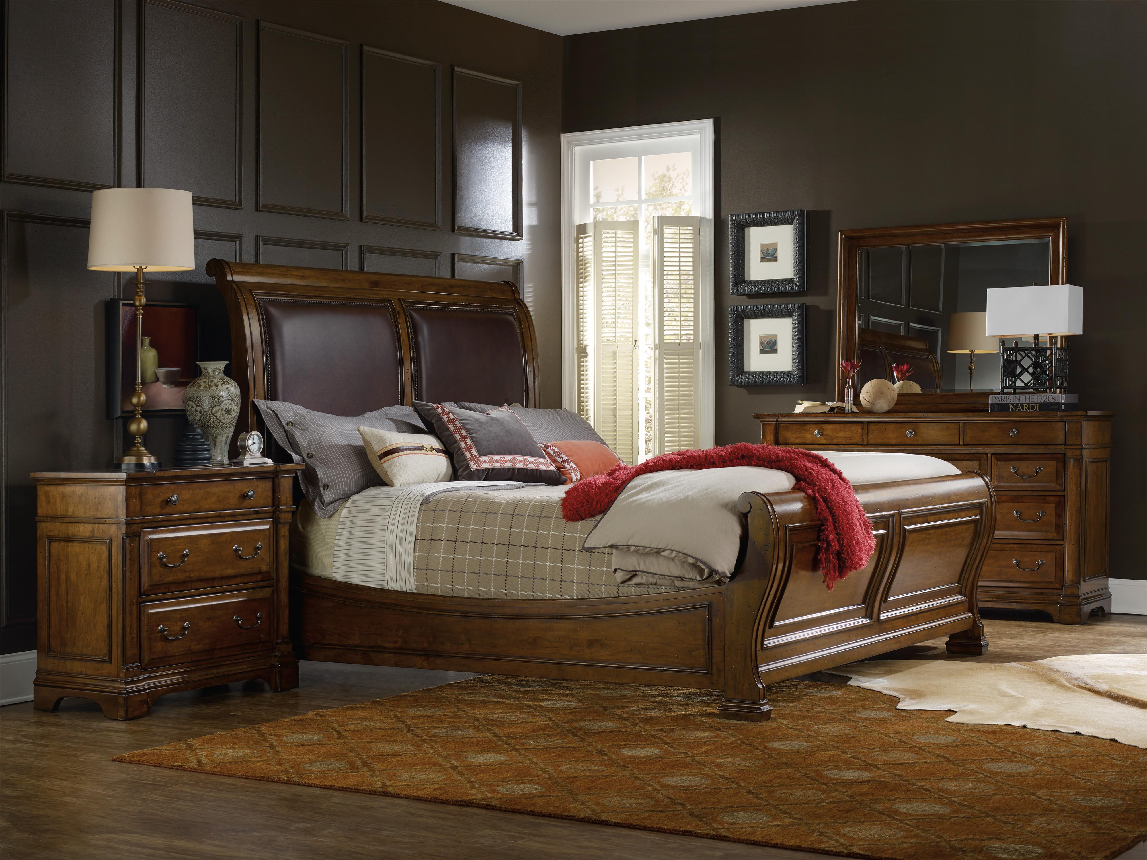 Tynecastle King Sleigh Bedroom Group by Hooker Furniture at Upper Room Home Furnishings