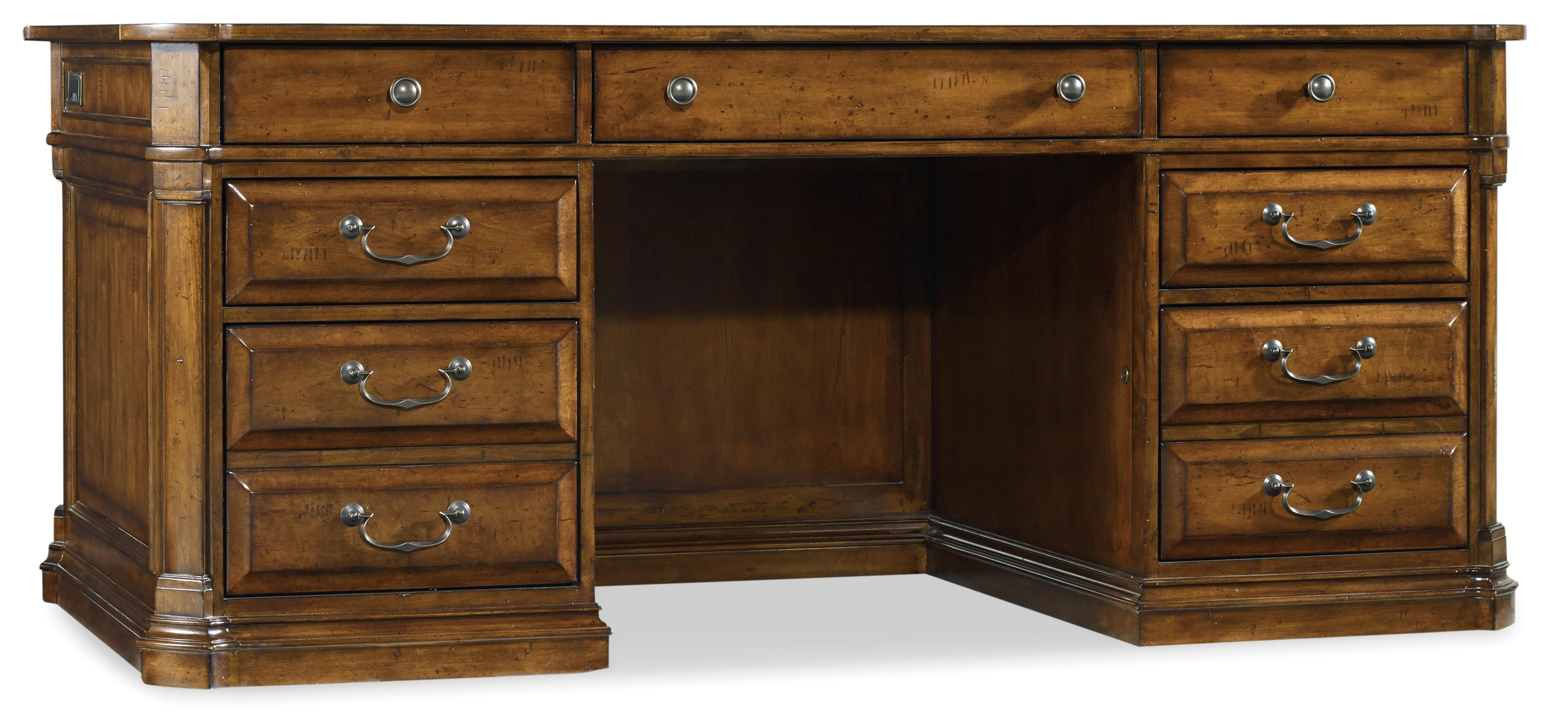 Tynecastle Executive Desk by Hooker Furniture at Miller Waldrop Furniture and Decor
