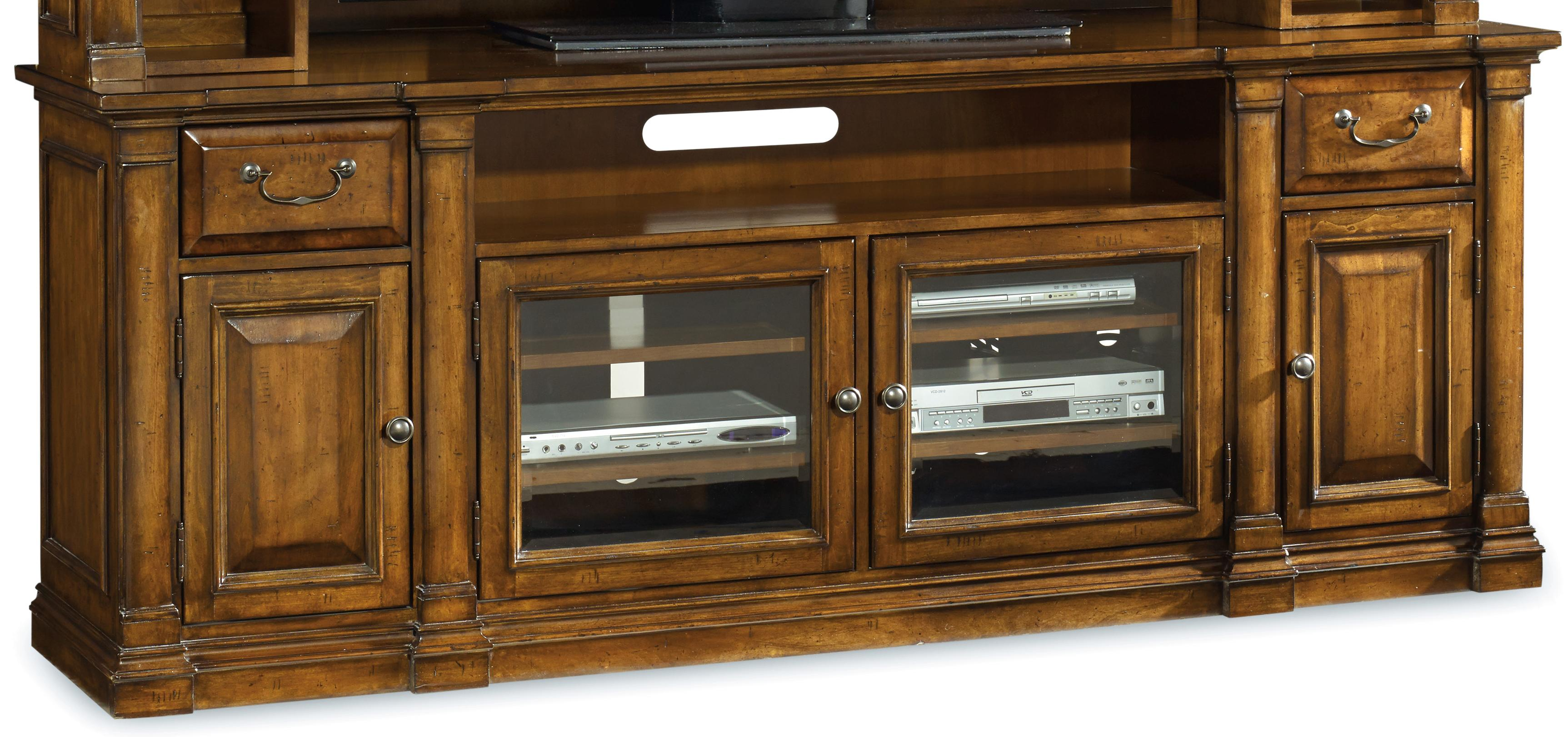 Tynecastle Entertainment Console by Hooker Furniture at Upper Room Home Furnishings