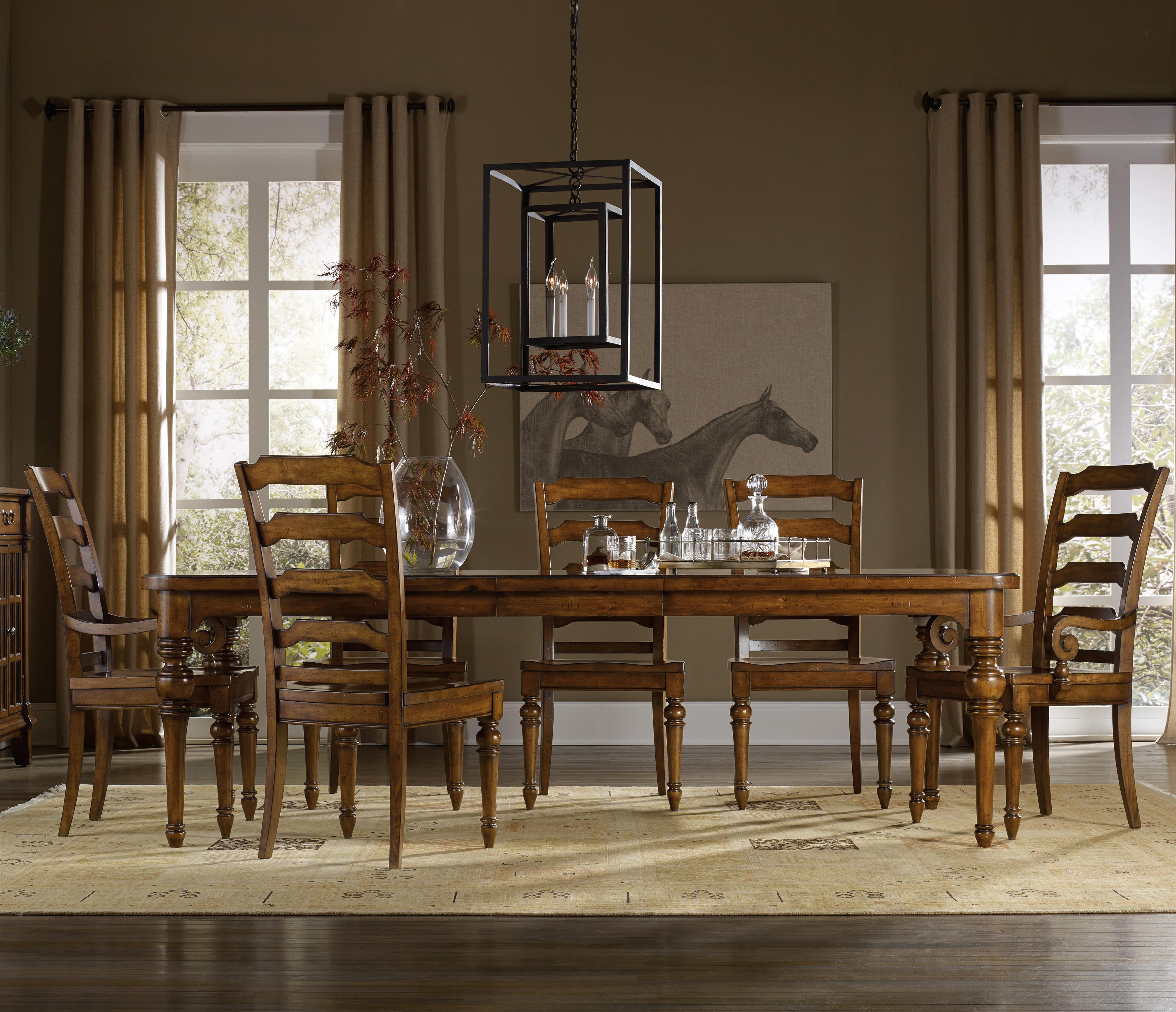Tynecastle 7 Piece Dining Set with Side Chairs by Hooker Furniture at Stoney Creek Furniture