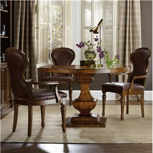 Traditional Table and Arm Chair Set