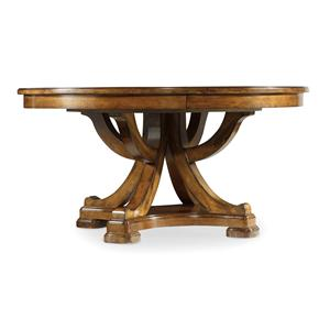 Traditional 60-Inch Round Pedestal Dining Table