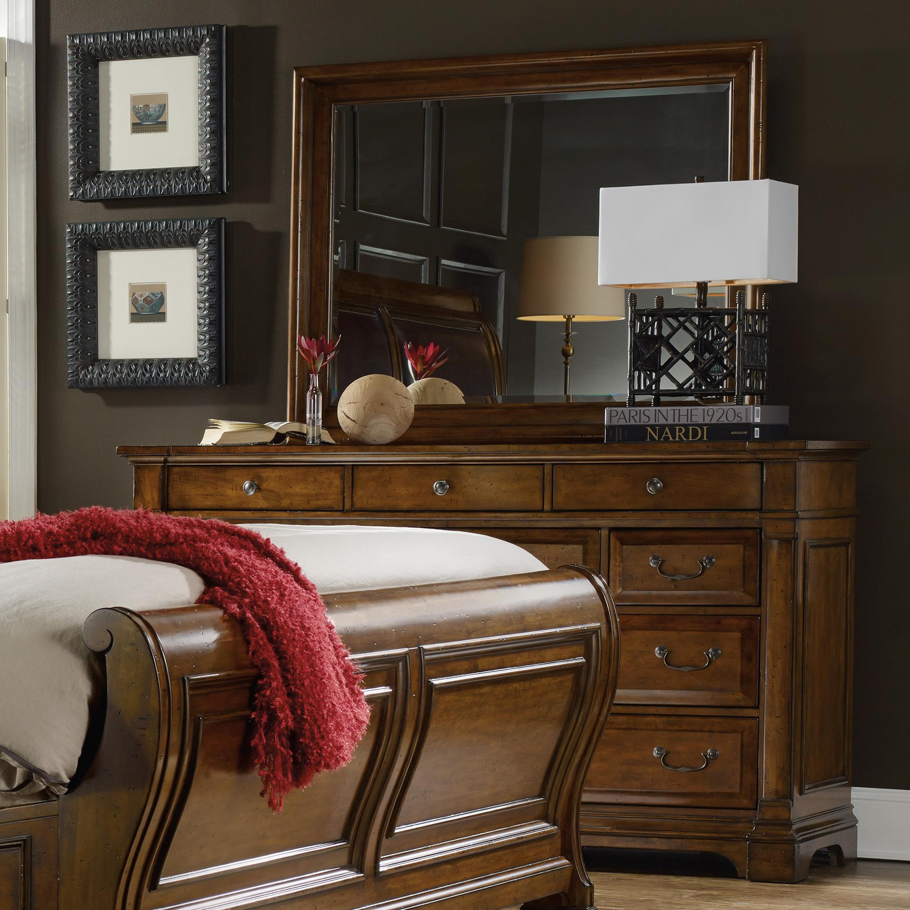 Tynecastle Dresser and Mirror Set by Hooker Furniture at Baer's Furniture