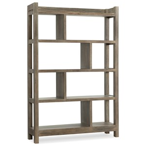 Rustic Bunching Bookcase of Solid Wood