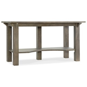 Rustic Work Surface Table of Solid Wood