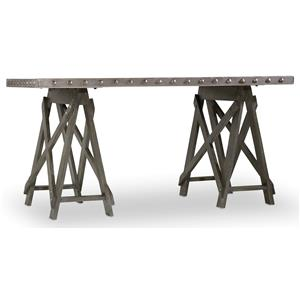 Accent Desk with Sawhorse Pedestals