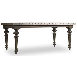 Rectangular Dining Table with Aluminum Top
