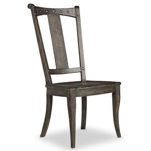 Splatback Side Chair with Decorative Nailheads