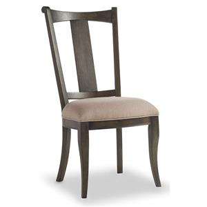 Upholstered Splatback Side Chair with Splayed Legs