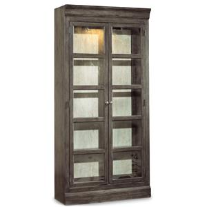 Two Door Bunching Curio with Touch Light