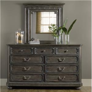 9 Drawer Dresser and Mirror Set