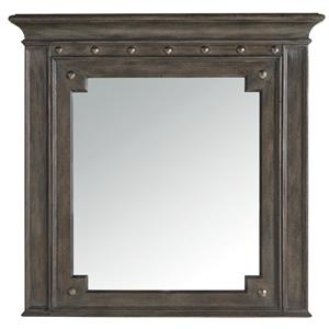Mirror with Molded Top and Decorative Nails