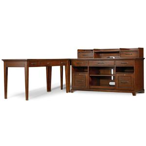 Hooker Furniture Wendover Four Piece L-Shaped Office Unit