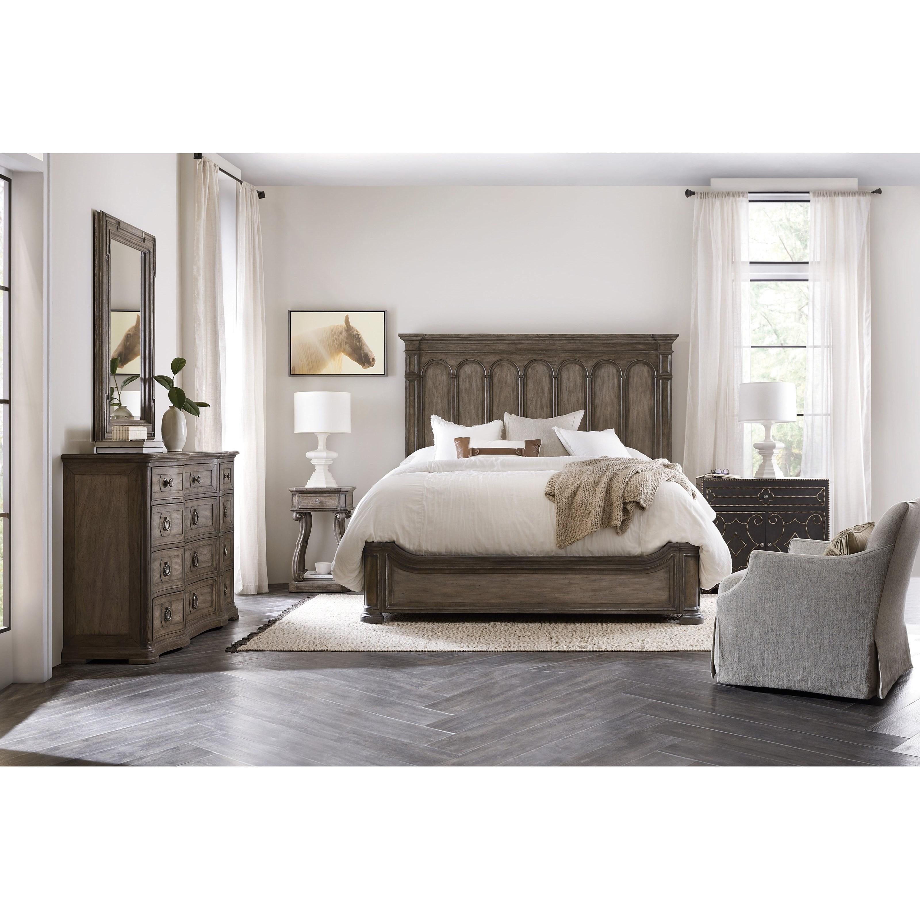 Woodlands King Bedroom Group by Hooker Furniture at Alison Craig Home Furnishings