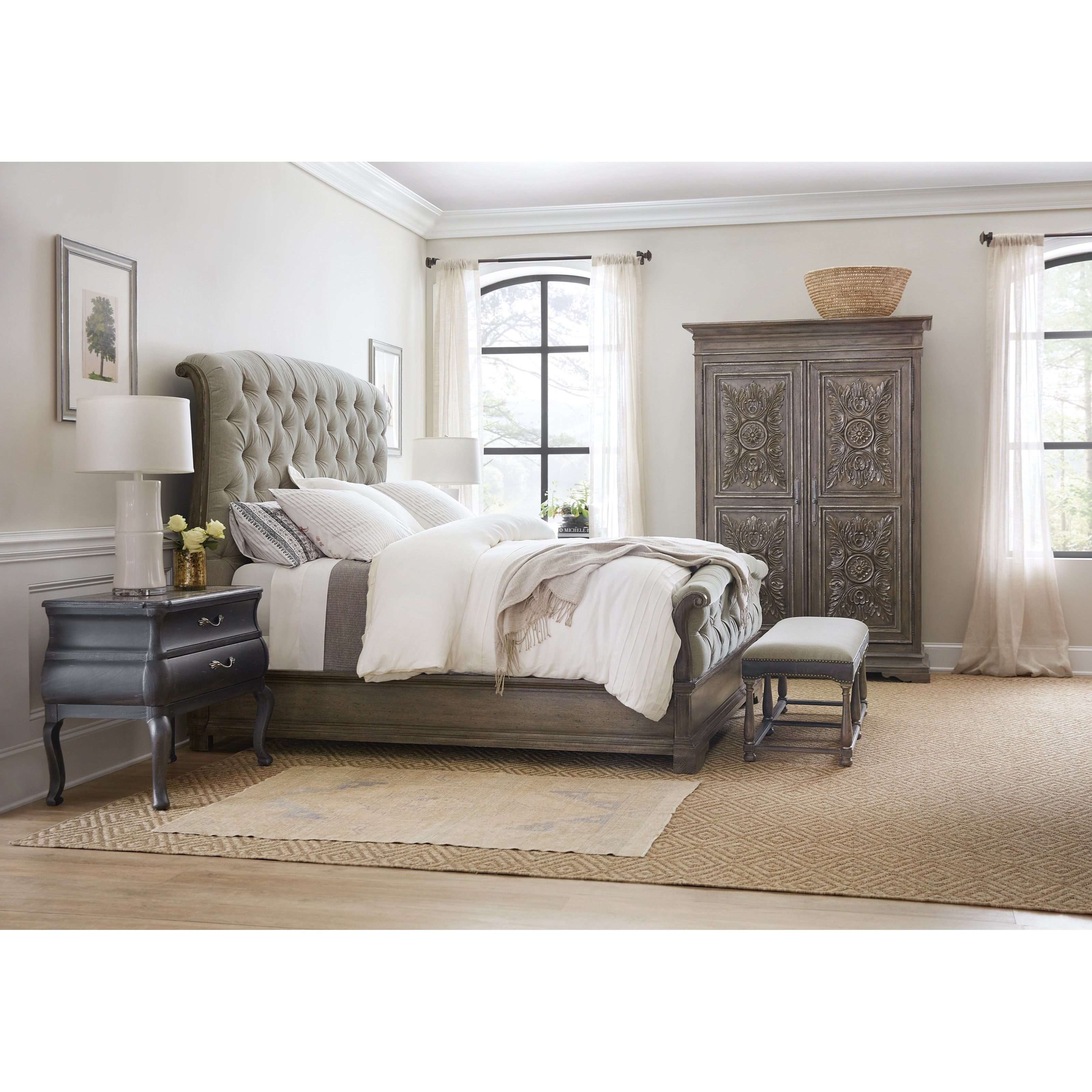 Woodlands Queen Bedroom Group by Hooker Furniture at Miller Waldrop Furniture and Decor