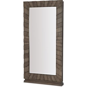 Traditional Floor Mirror with Jewelry Storage
