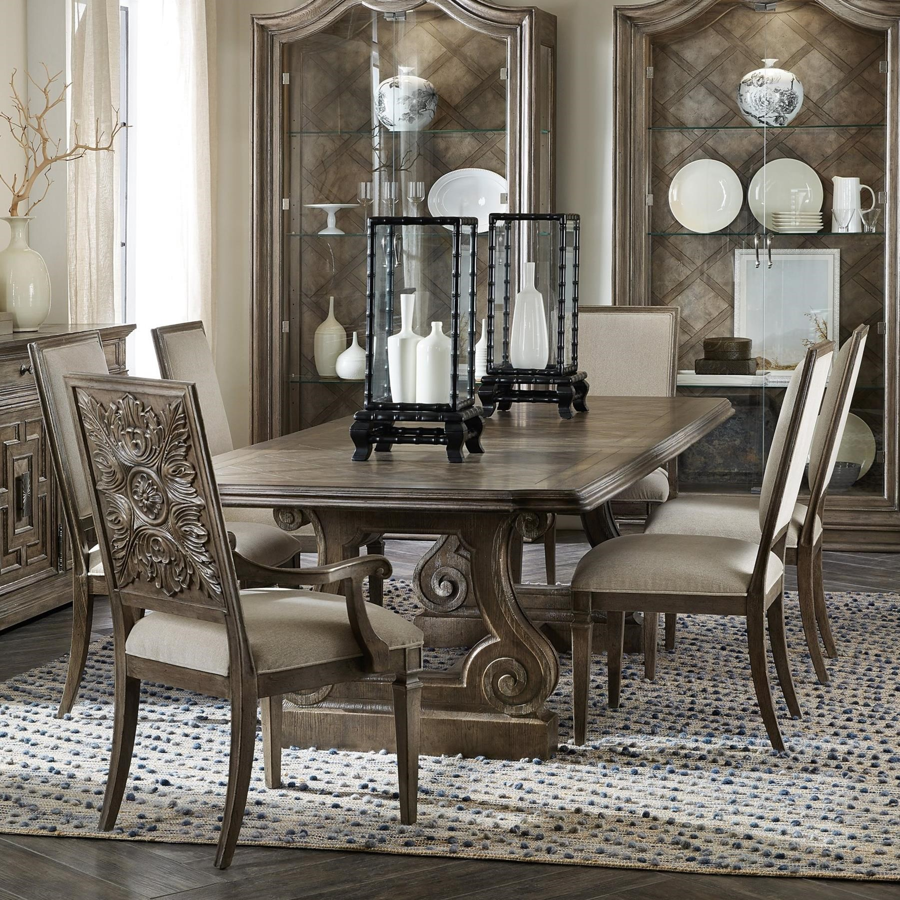 Woodlands 7-Piece Table and Chair Set by Hooker Furniture at Baer's Furniture
