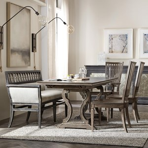 5-Piece Table and Chair Set with Banquette