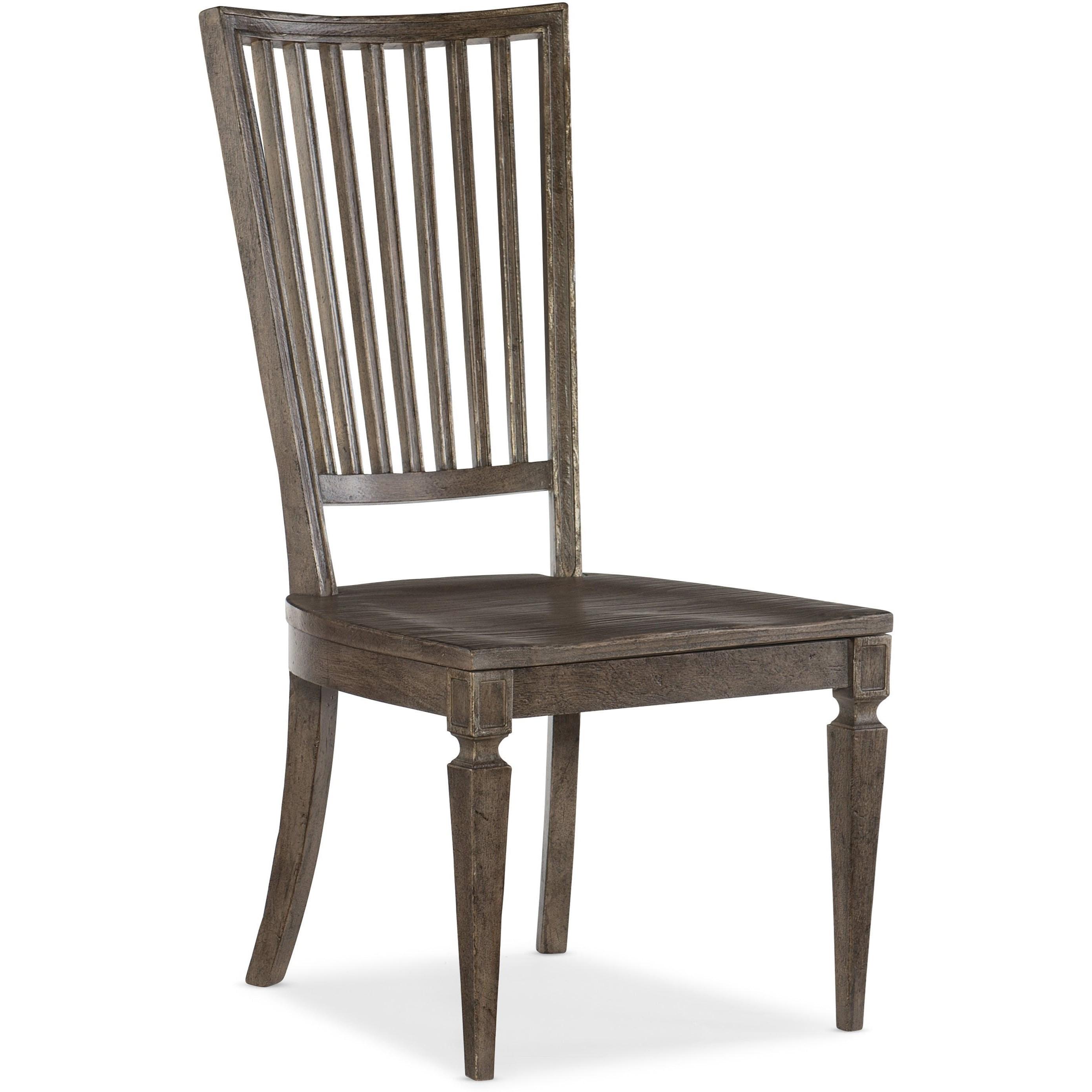 Woodlands Wood Back Side Chair by Hooker Furniture at Baer's Furniture