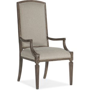Arched Upholstered Arm Chair