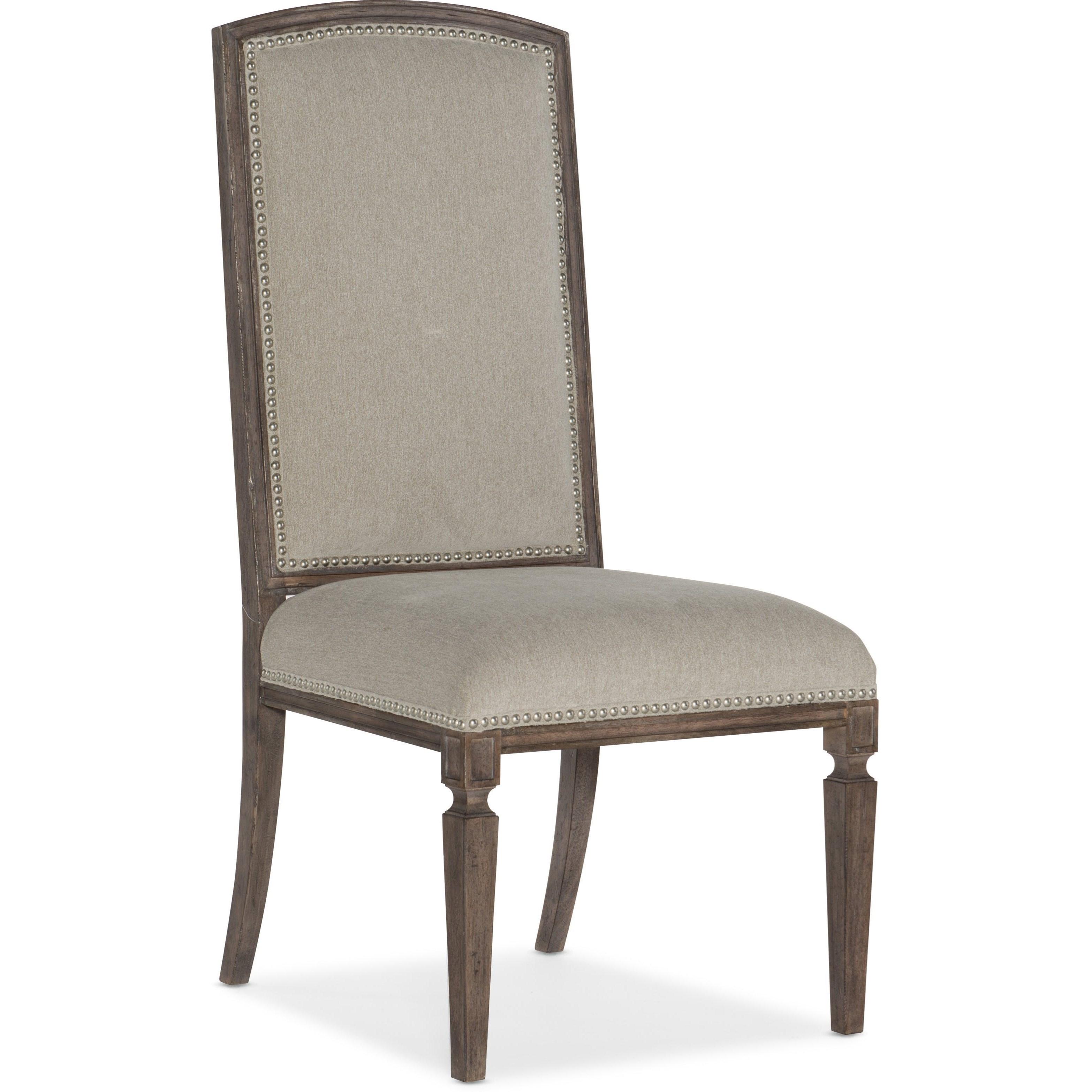 Woodlands Arched Upholstered Side Chair by Hooker Furniture at Baer's Furniture